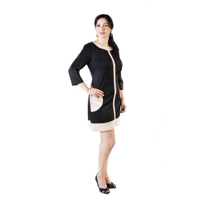sukienka-codzienna-czarno-bezowa-wenecja-1