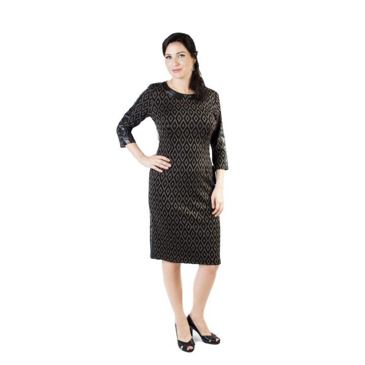 sukienka-codzienna-czarno-zlota-kama1