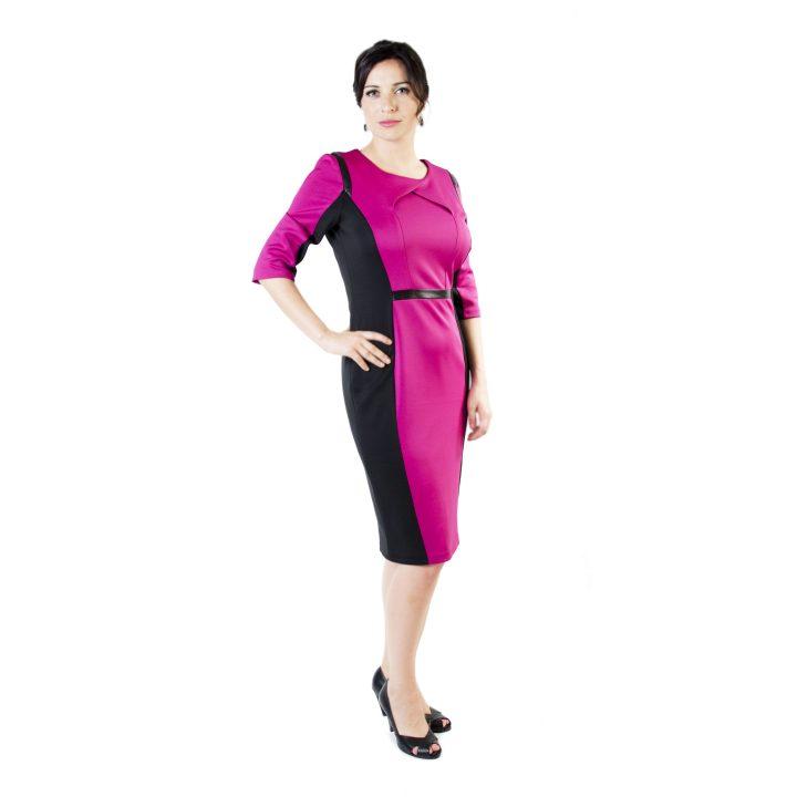 sukienka-codzienna-malinowo-czarna-tamara-1