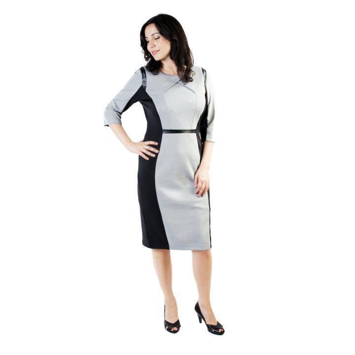 sukienka-codzienna-popielato-czarna-tamara-1