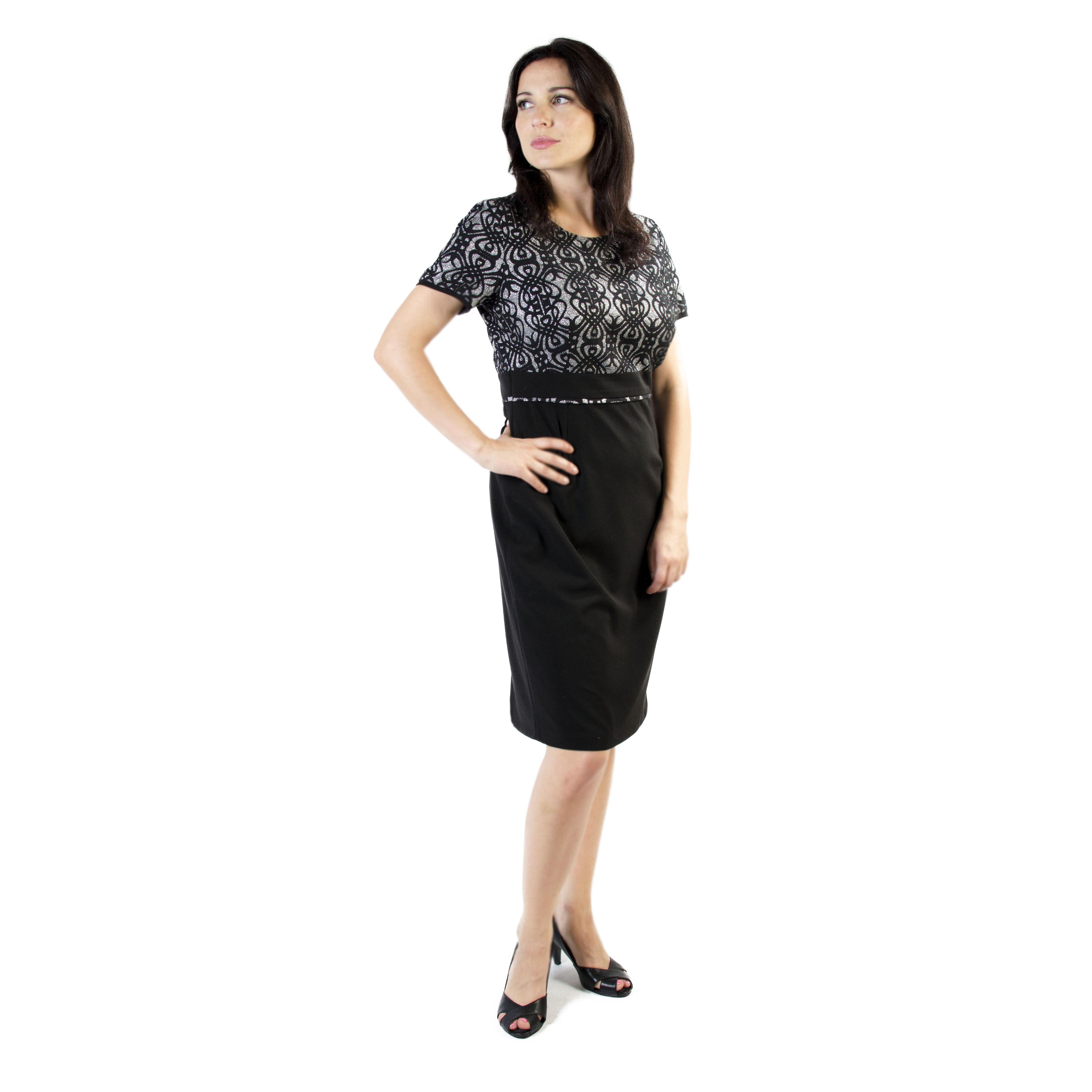 d03352debe SUKIENKA LAURA CZARNO-SREBRNA – Fashion Romantic – Sklep on-line